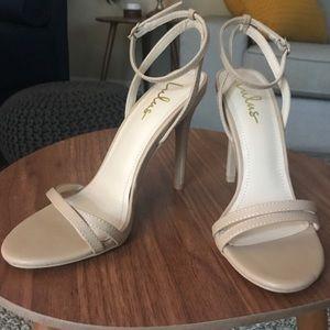 Lulus beige heels